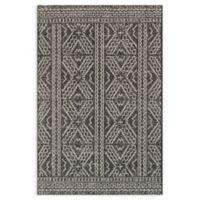 Magnolia Home by Joanna Gaines Warwick 7'10 x 10'9 Indoor/Outdoor Area Rug in Black/Silver