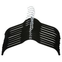 Joy Mangano Huggable Hangers® 10-Pack Shirt Hangers in Black