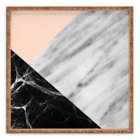 Deny Designs Marble Collage by Emanuela Carratoni Small Square Serving Tray