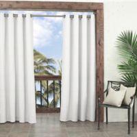 Parasol Key Largo 108-Inch Grommet Indoor/Outdoor Window Curtain Panel in White