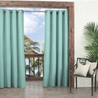Parasol Key Largo 108-Inch Grommet Indoor/Outdoor Window Curtain Panel in Aqua