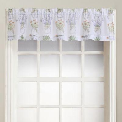 Eveu0027s Garden Rod Pocket Kitchen Window Valance In White