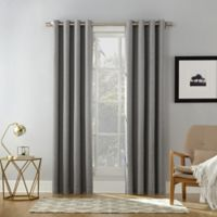Sun Zero Baxter 84-inch Rod Pocket Extreme Blackout Window Curtain Panel in Grey