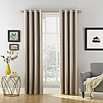 Sun Zero Baxter 84-inch Rod Pocket Extreme Blackout Window Curtain Panel in Stone