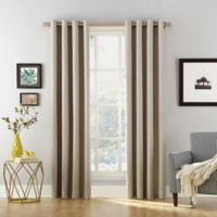 Sun Zero Baxter 63-inch Rod Pocket Extreme Blackout Window Curtain Panel in Stone