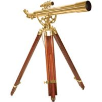 Barska® 28x60mm Anchormaster Brass Telescope with Mahogany Tripod