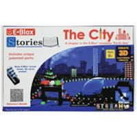 E-Blox® Stories™ The City 100-Piece Electronic LED Building Block and Storybook Set