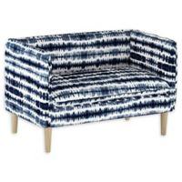 Skyline Furniture Nieman Settee in Stripe Blue