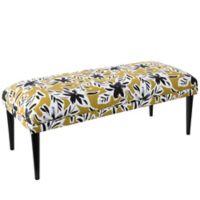 Skyline Furniture Linen Upholstered Bench in Orange