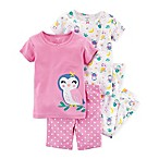 carter's® Size 3T 4-Piece Owl Print Pajama Set in Purple