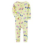 carter's® Size 12M Snug Fit Butterfly Print Footless Pajamas in Yellow