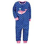 carter's® Size 12M Multi Dot Whale Footless Pajama in Blue