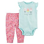 carter's® Size 3M 2-Piece Ice Cream Bodysuit and Pant Set in Mint