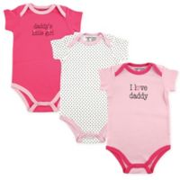 Luvable Friends® Size 18-24M Daddy 3-Pack Bodysuits in Pink
