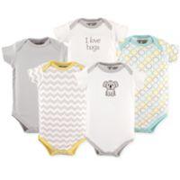 Luvable Friends® Size 18-24M 5-Pack Koala Short Sleeve Bodysuits
