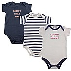 Luvable Friends® Size 12-18M 3-Pack Boy Daddy Short Sleeve Bodysuits