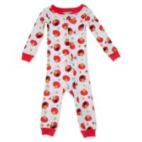 Sesame Street® Size 12M Hi Elmo Long Sleeve Coverall in Red/White