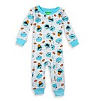 Sesame Street® Size 12M Striped Cookie Monster Footless Pajama