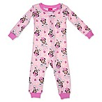 Disney® Size 12M Minnie Mouse Long Sleeve Coverall in Pink