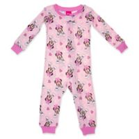 Disney® Size 24M Minnie Mouse Long Sleeve Coverall in Pink