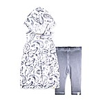Burt's Bees Baby® Size 6-9M 2-Piece Hooded Tunic and Legging Set in White