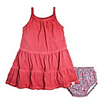 Burt's Bees Baby® Size 6-9M 2-Piece Tiered Dress and Diaper Cover Set in Red