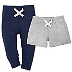 Gerber® Size 6-9M 2-Pack Pant and Short Set in Blue/Grey