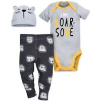 Gerber® Size 6-9M Tiger 3-Piece Bodysuit, Pant and Hat Set