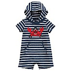 carter's® Size 3M Striped Crab Hooded Romper in Navy