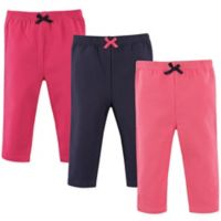 Luvable Friends® Size 6-9M 3-Pack Leggings in Dark Pink/Navy