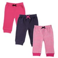 Luvable Friends® Size 9-12M 3-Pack Stripe Pants in Pink