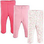 Luvable Friends® Size 0-3M 3-Pack Rose Leggings in Pink