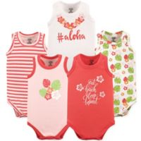 Luvable Friends® Size 9-12M 5-Pack Aloha Bodysuits in Pink/Coral