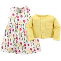 Luvable Friends® Size 0-3M 2-Piece Floral Dress and Cardigan Set