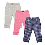 Luvable Friends® Size 0-3M 3-Pack Polka Dot Pants in Navy/Pink