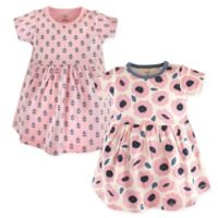 Touched by Nature Size 9-12M Blossoms 2-Pack Organic Cotton Dresses in Pink