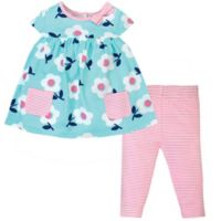 Gerber® Size 5T 2-Piece Flower and Stripe Tunic and Legging Set