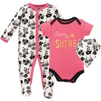 Luvable Friends® Size 3-6M Choose to Shine Coverall, Bodysuit, and Bib Set