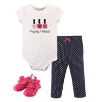 Little Treasure Size 9-12M Perfectly Polished Bodysuit, Pant, and Shoe Set in Navy