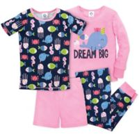 "Gerber® Size 24M 4-Piece ""Dream Big"" Pajama Set in Pink/Blue"