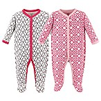 Hudson Baby® Size 6-9M 2-Pack Boho Snap-Front Sleep N Play Coveralls