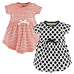 Touched by Nature Size 12-18M 2-Pack Organic Cotton Dresses in Navy/Pink