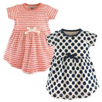 Touched by Nature Size 4T 2-Pack Organic Cotton Dresses in Navy/Pink