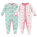 Luvable Friends® Size 3-6M 2-Pack Snap-Front Sleep N Play Coveralls