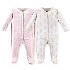 Hudson Baby® Size 0-3M 2-Pack Paris Sleep 'n Play Footies