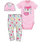 "Gerber® 3-Piece Size 0-3M ""So Sweet"" Cotton Bodysuit, Pant, and Hat Set"
