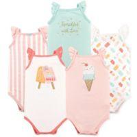 Hudson Baby® Size 0-3M 4-Pack Ice Cream Sleeveless Bodysuits