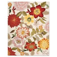 Nourison Fantasy Floral 9' x 12' Area Rug in Ivory