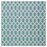 Nourison Sun & Shade Indoor/Outdoor 7'9 Square Area Rug in Blue