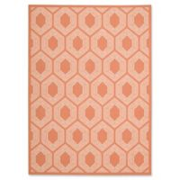 Nourison Bubbly 7'9 x 10'10 Indoor/Outdoor Area Rug in Orange